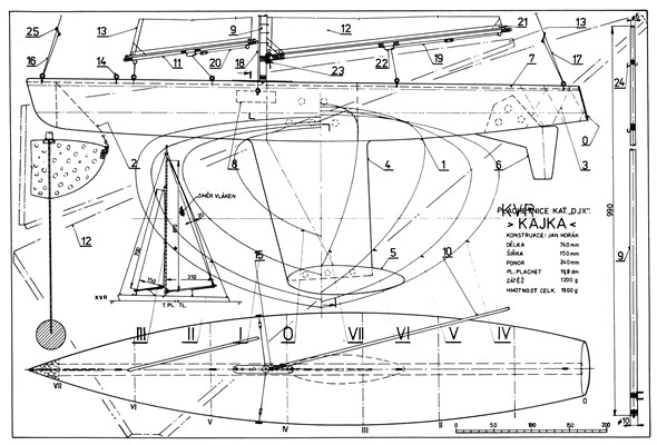 Kajka model airplane plan