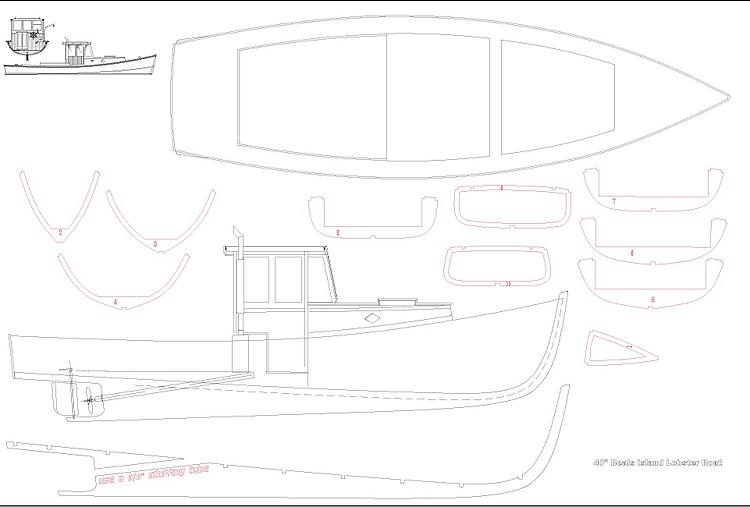 LOBSTER BOAT Plans - AeroFred - Download Free Model Airplane Plans