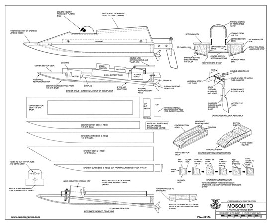 Mosquito Plans - AeroFred - Download Free Model Airplane Plans