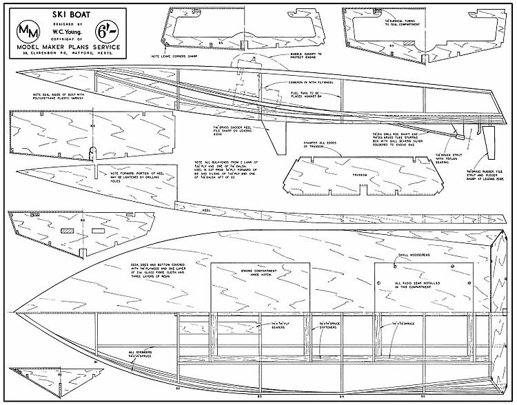 SKI BOAT Plans - AeroFred - Download Free Model Airplane Plans