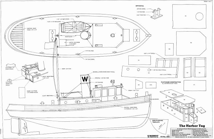THE HARBOR TUG Plans - AeroFred - Download Free Model Airplane Plans