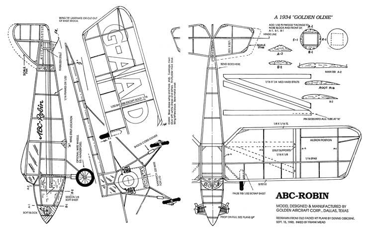 ABC Robin 14in model airplane plan