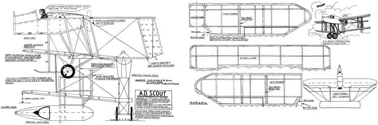 AD Scout-FAC model airplane plan