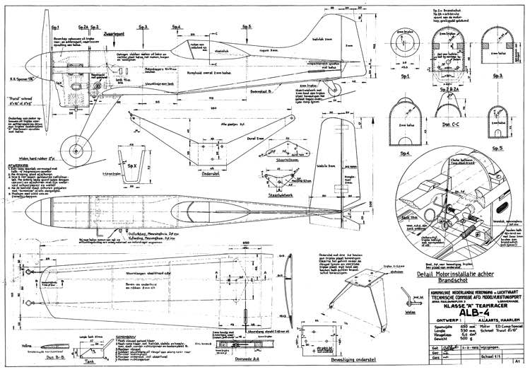 ALB-4 model airplane plan