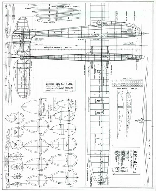 AM-40 model airplane plan