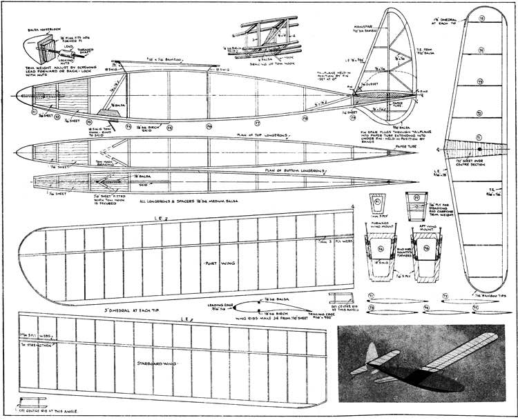 Aegeus 42in model airplane plan