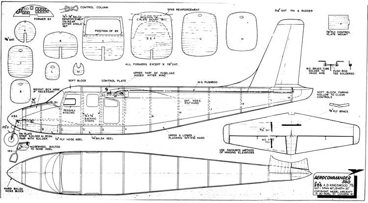 Aerocommander 560 model airplane plan