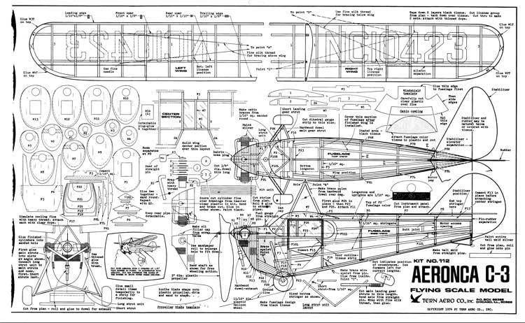 Aeronca C-3 TernAero model airplane plan