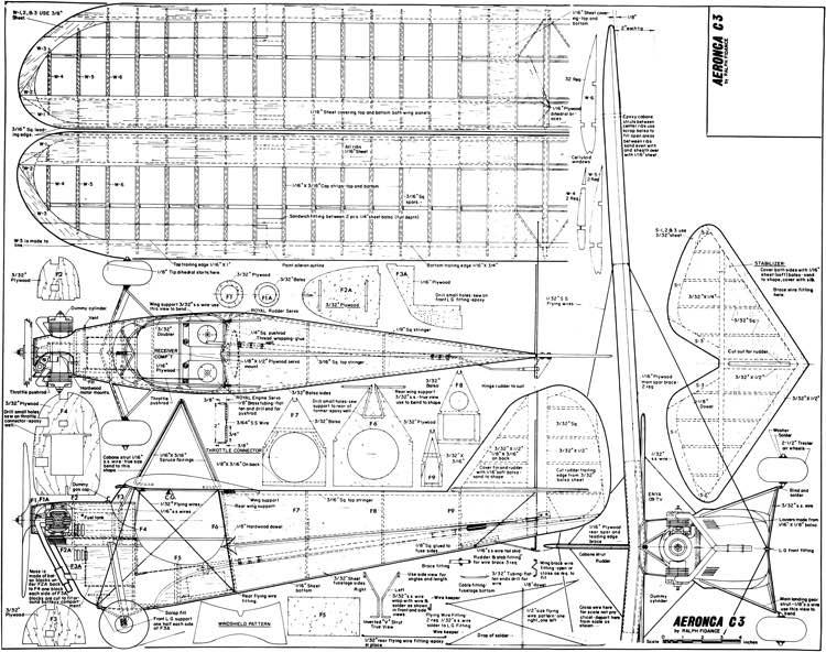 aeronca c3 rc 54in plans - aerofred