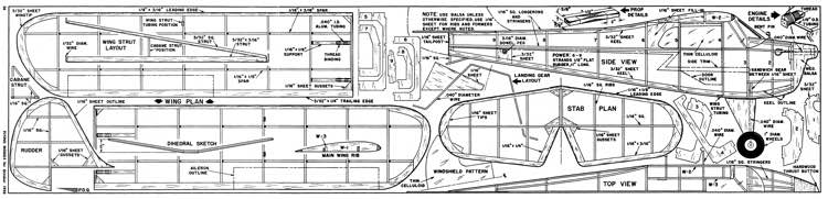 Aeronca K FM-1958-10 model airplane plan
