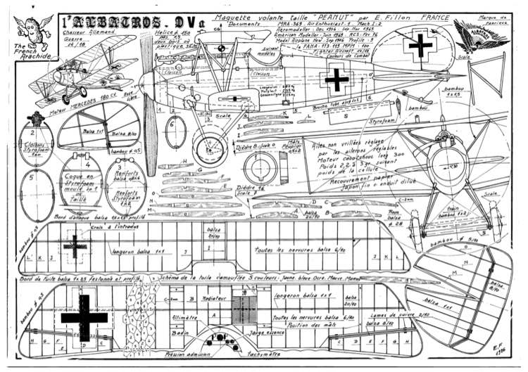 Albatros DVa model airplane plan