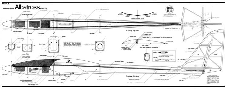 Albatross aeroflyte glider model airplane plan