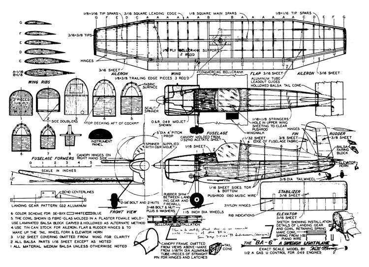 Andreasson model airplane plan