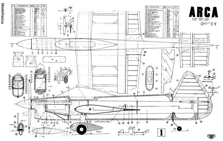 Arca 54in model airplane plan
