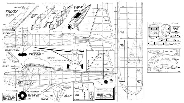Army Grasshopper model airplane plan