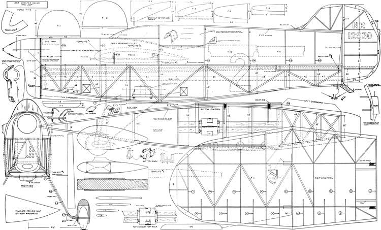 Art Chester Jeep model airplane plan