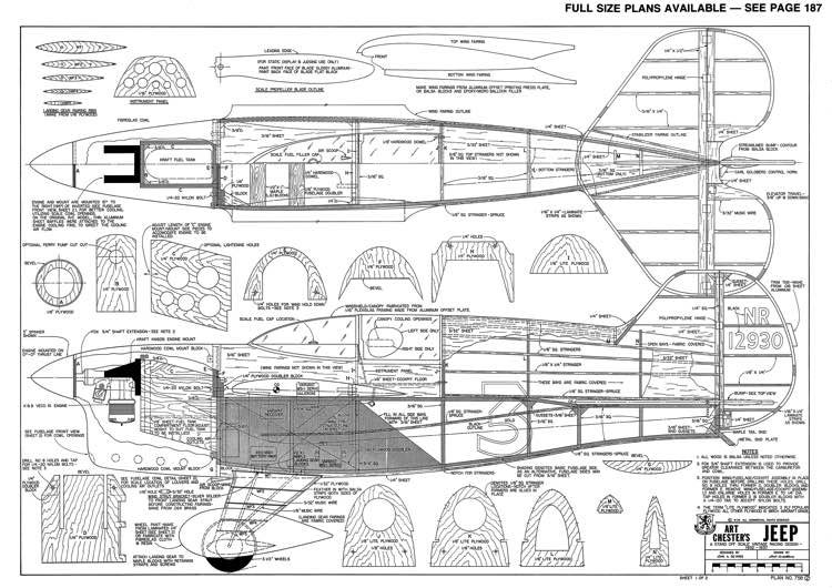 Art Chesters Jeep-RCM-04-79 798 model airplane plan
