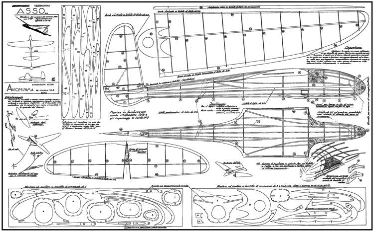 Asso model airplane plan