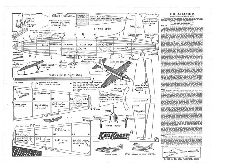 Attacker model airplane plan
