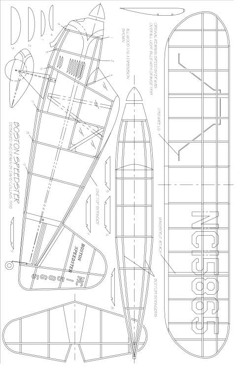 BOSTON SPEEDSTER Model 1 model airplane plan