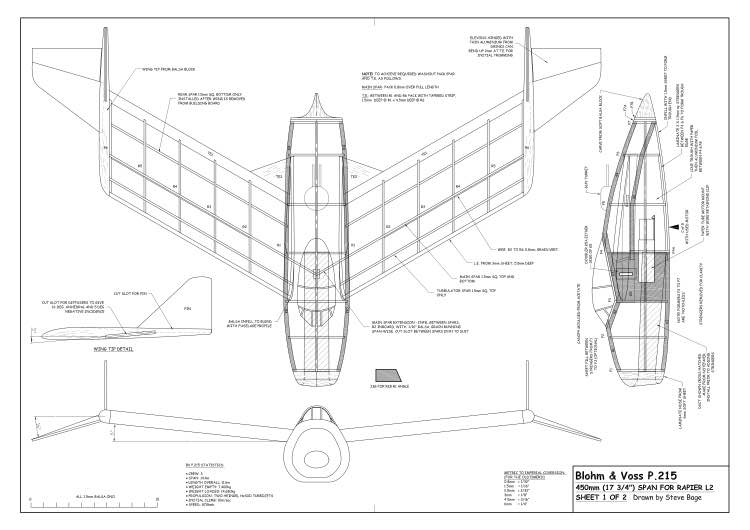 BV P215 A2 model airplane plan
