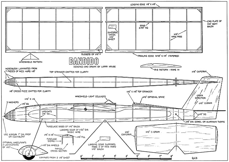 Bandido-Larry-Kruse-FM model airplane plan