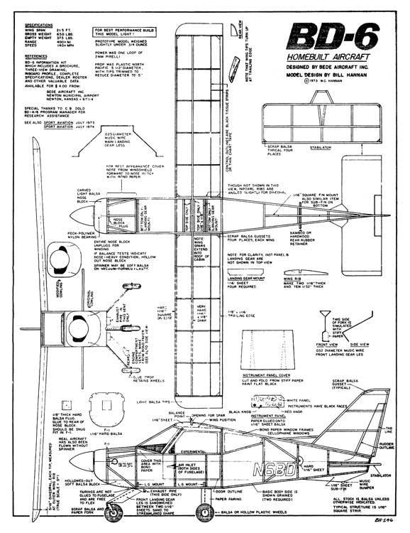 bede bd-6 plans - aerofred