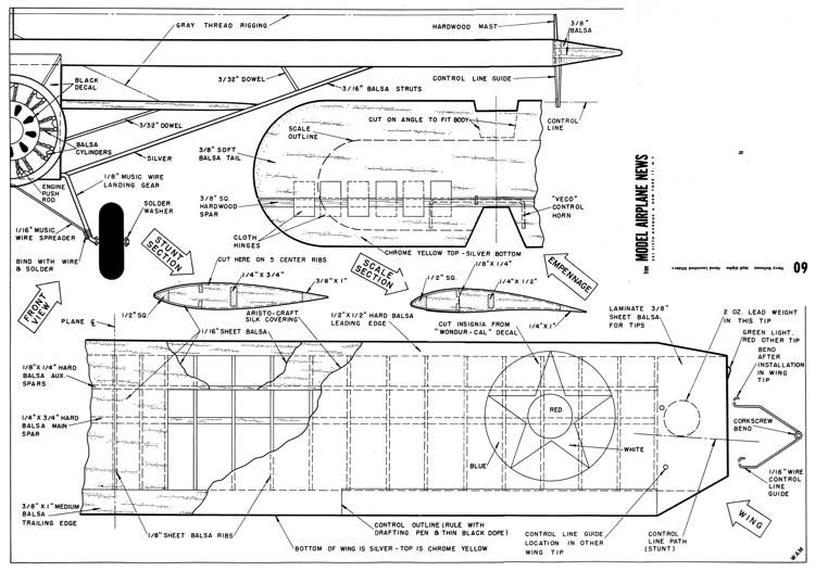 Bellanca Navy model airplane plan