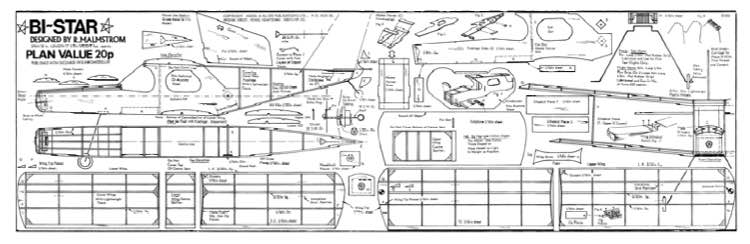 Bi-Star 18in model airplane plan