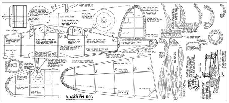 Blackburn ROC-Aeromodeller 01-41 model airplane plan