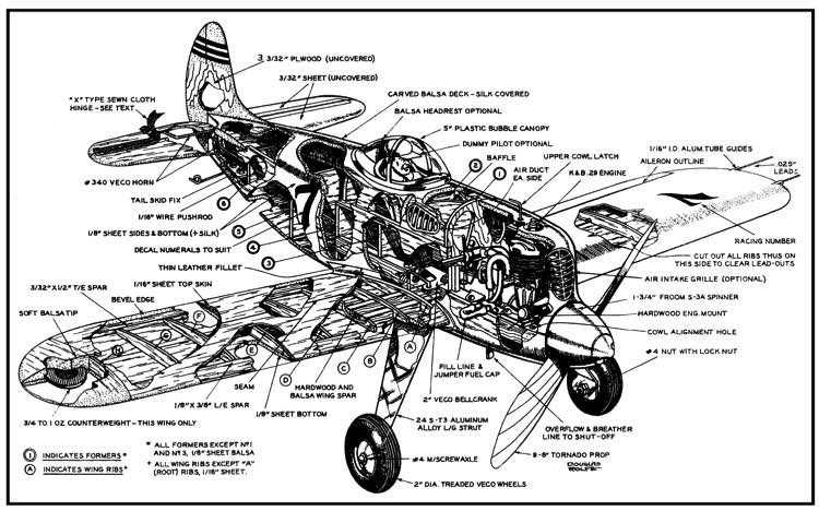 BlunderBusterCL model airplane plan