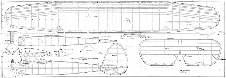 1938 Bomber model airplane plan