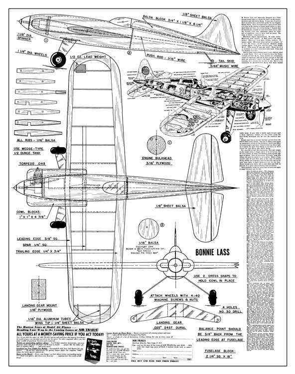 *Canuck Bostonian* Plans - AeroFred - Download Free Model Airplane Plans
