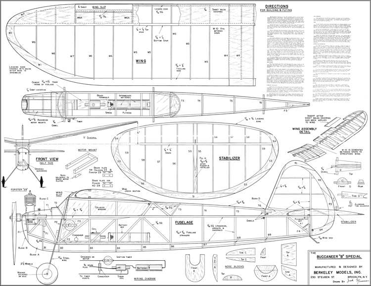 Buccaneer B Special model airplane plan