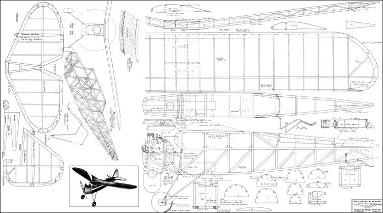 Buccaneer Standard 66in model airplane plan
