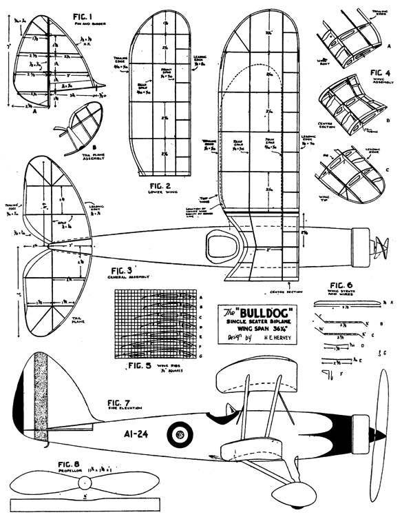 Bulldog 2 model airplane plan