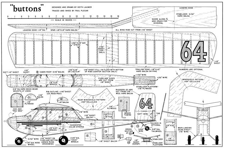 Buttons-MAN 08-60 model airplane plan