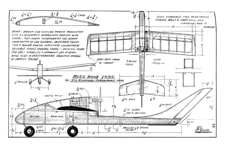 BuzzBomb model airplane plan