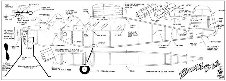 Buzz Bee model airplane plan