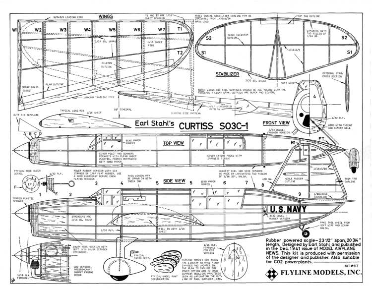 CURTIS S03C-1 DONE(1) model airplane plan