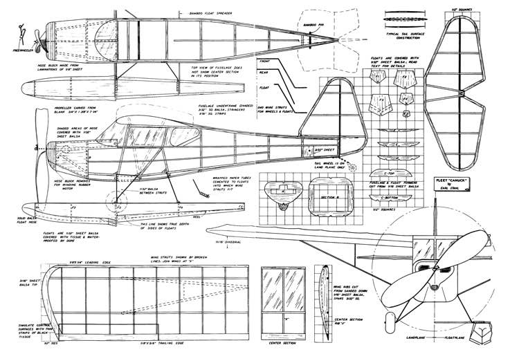 Canuck1 model airplane plan