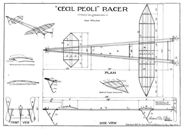 Cecil Peoli model airplane plan
