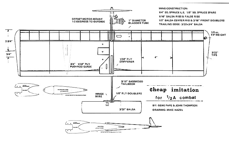 Cheap Imitation model airplane plan