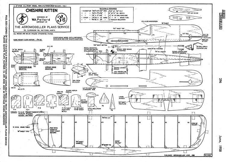 CheshireKitten model airplane plan