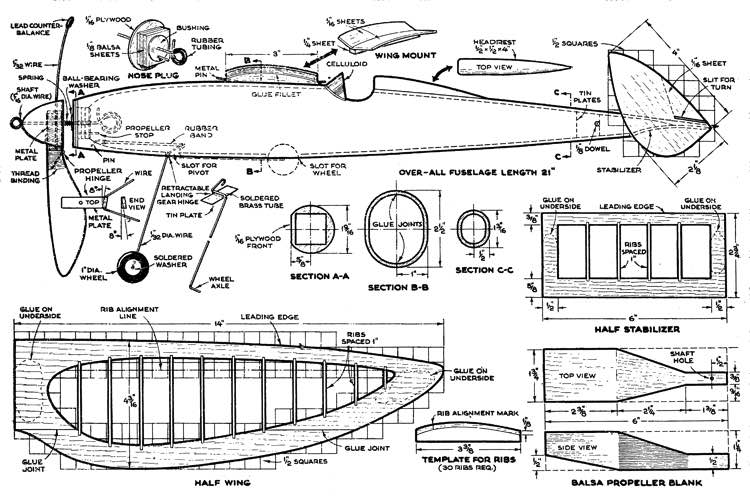 Chieftain model airplane plan