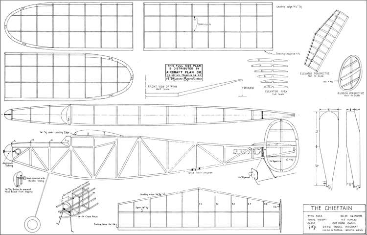 Chieftain Rubber Plans Aerofred Download Free Model