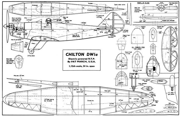Chilton model airplane plan