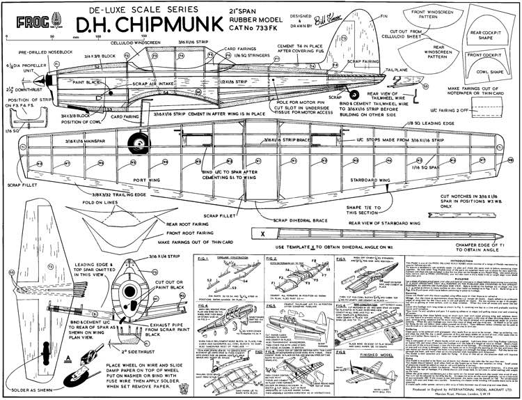 Chipmunk 2 Plans Aerofred Download Free Model Airplane Plans