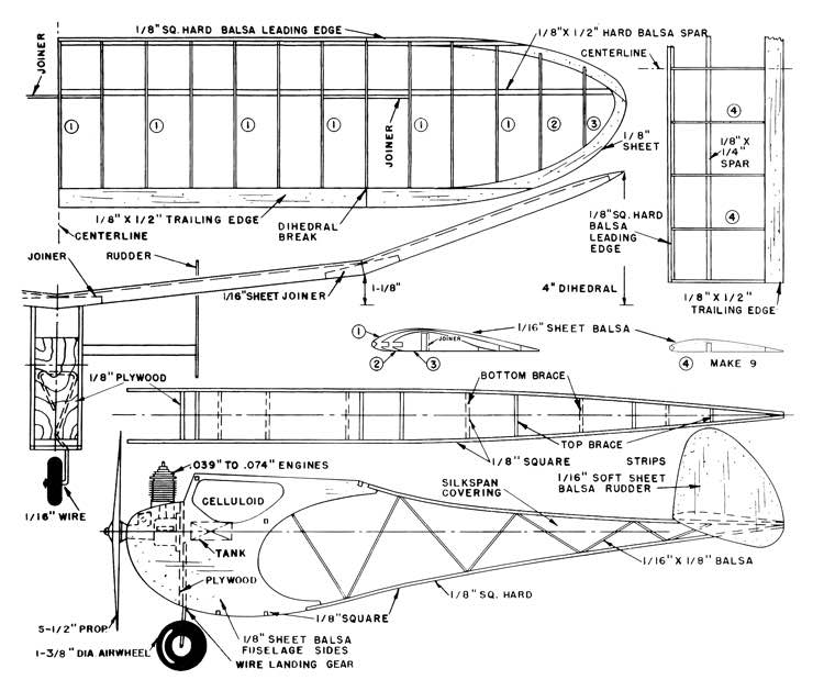 Classy Gassy Cleaned model airplane plan