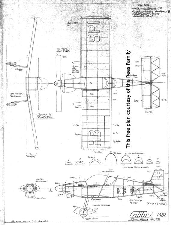 Colibri MB2 model airplane plan